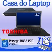 Laptop Toshiba Portege R835-P70 Intel i5 de 2a. Geração 4GB de RAM e 250GB de disco