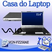 Laptop Vaio VGN-FZ250AE  Intel Core 2 Duo 3GB de memória RAM e 120GB disco