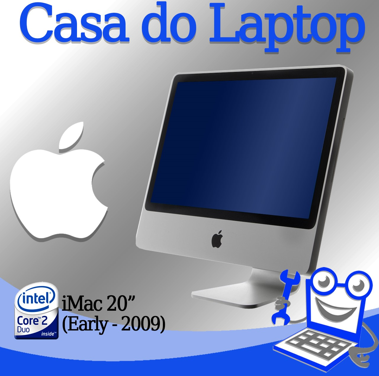 All in One  Apple iMac Intel Core 2 Duo 4GB de memória RAM e 250GB disco 120MB vídeo dedicado RADEON 2400 XT