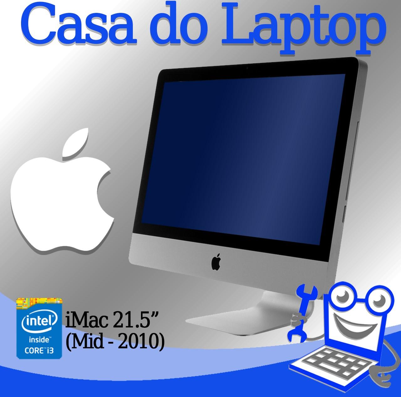 All in One Apple iMac (Mid-2010) Intel i3 - 1° geração 4GB de memória RAM e 500GB disco, 256MB de vídeo dedicado Radeon HD 4670