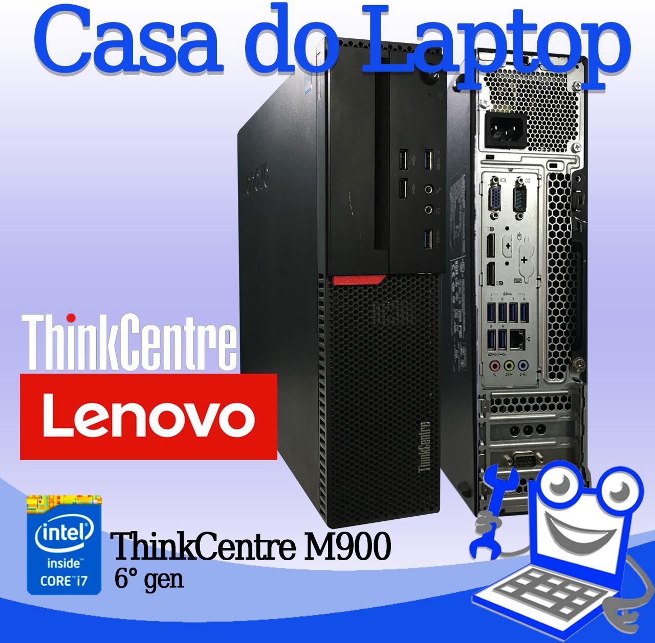 Desktop Lenovo ThinkCentre M900 Intel i7 6a. Geração 8GB de memória RAM e 500GB de disco