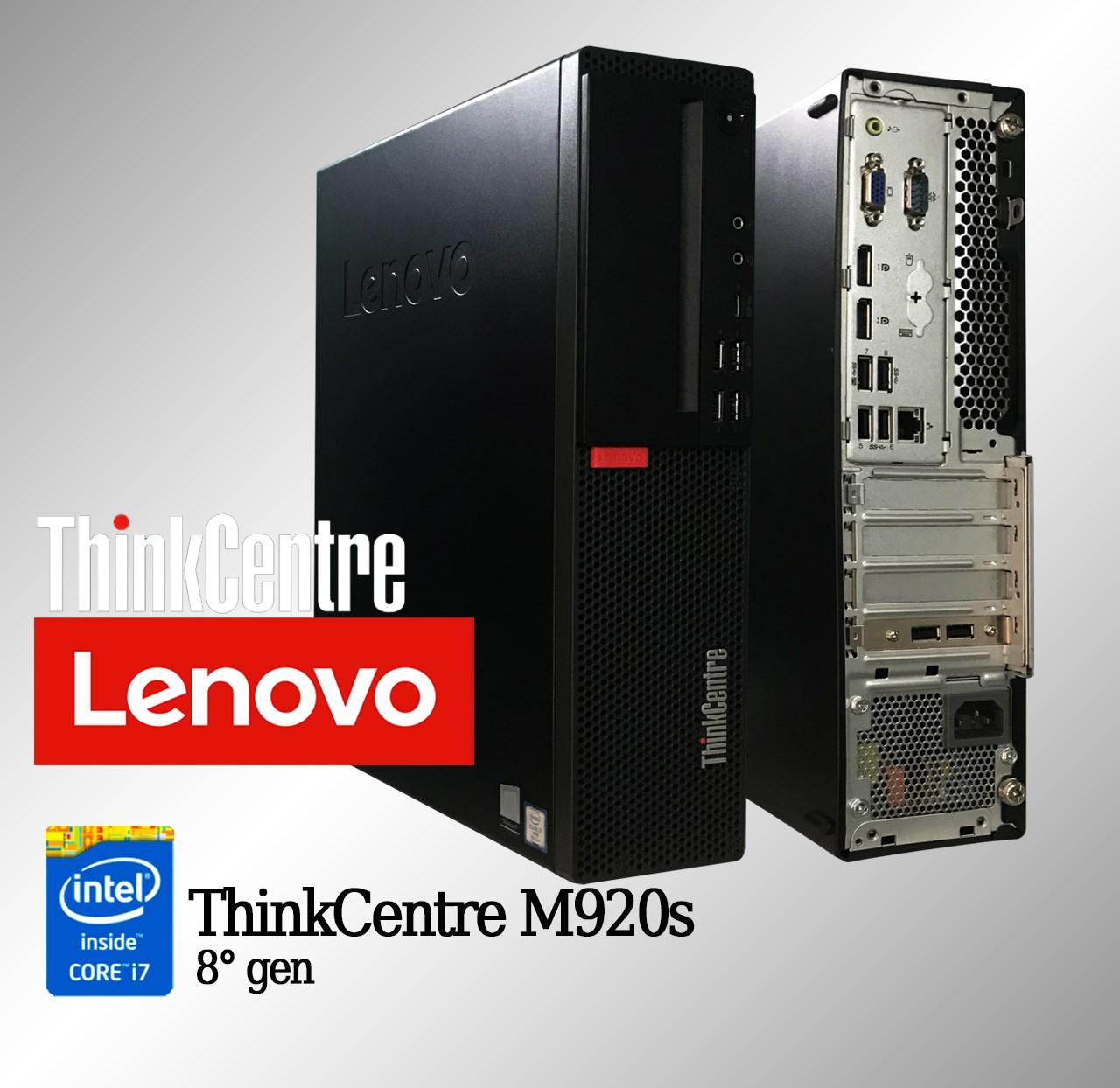 Desktop Lenovo ThinkCentre M920s Intel i7 8a. Geração 16GB de memória RAM e 128GB SSD SATA