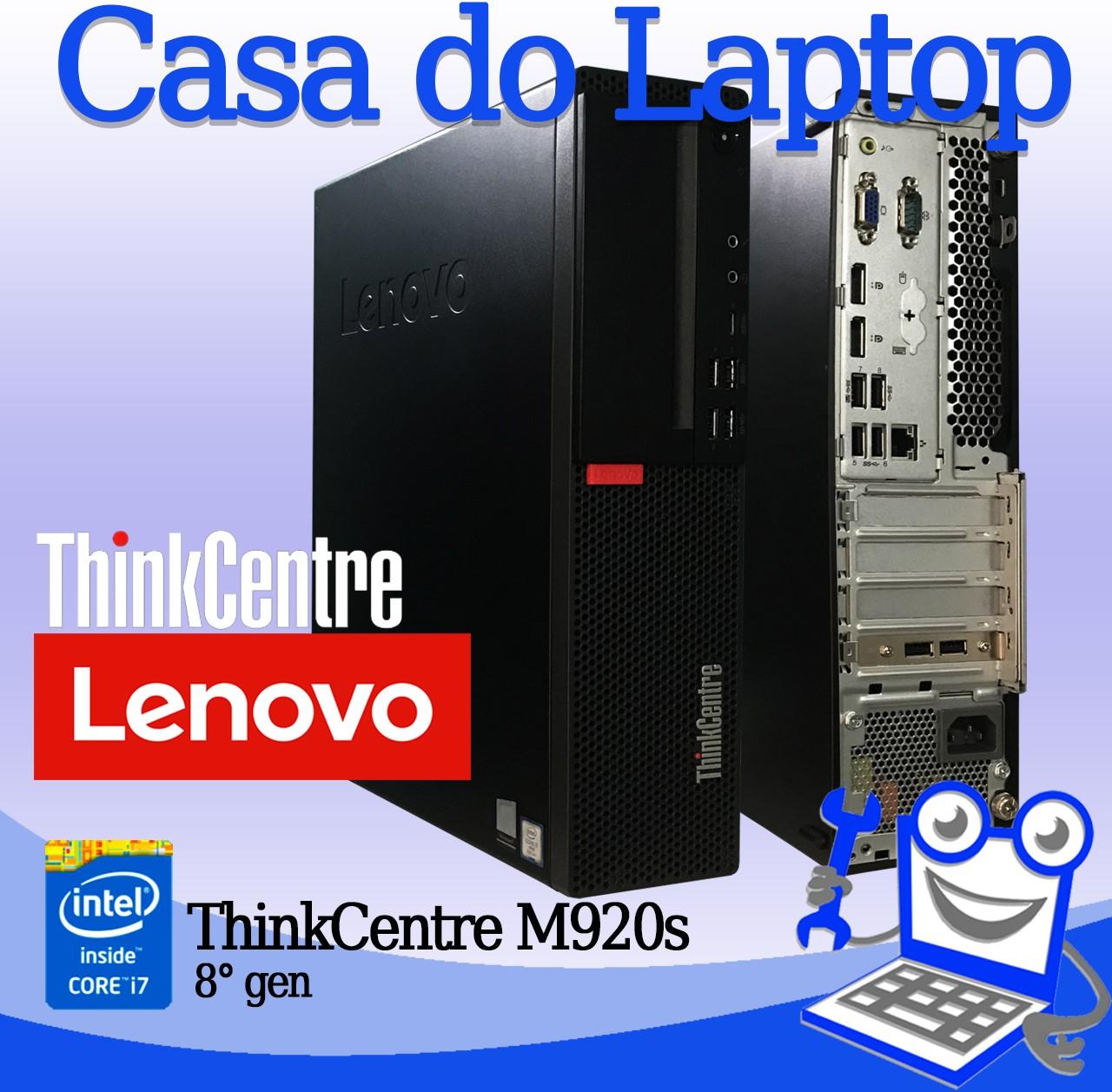 Desktop Lenovo ThinkCentre M920s Intel i7 8a. Geração 8GB de memória RAM e 128GB SSD M2