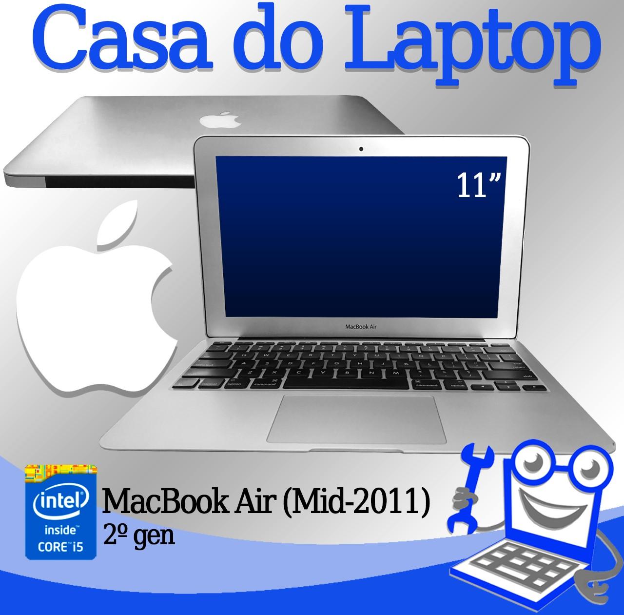 Laptop Apple MacBook Air (Mid-2011) Intel i5 2° Geração 4GB de memória RAM e 120GB SSD