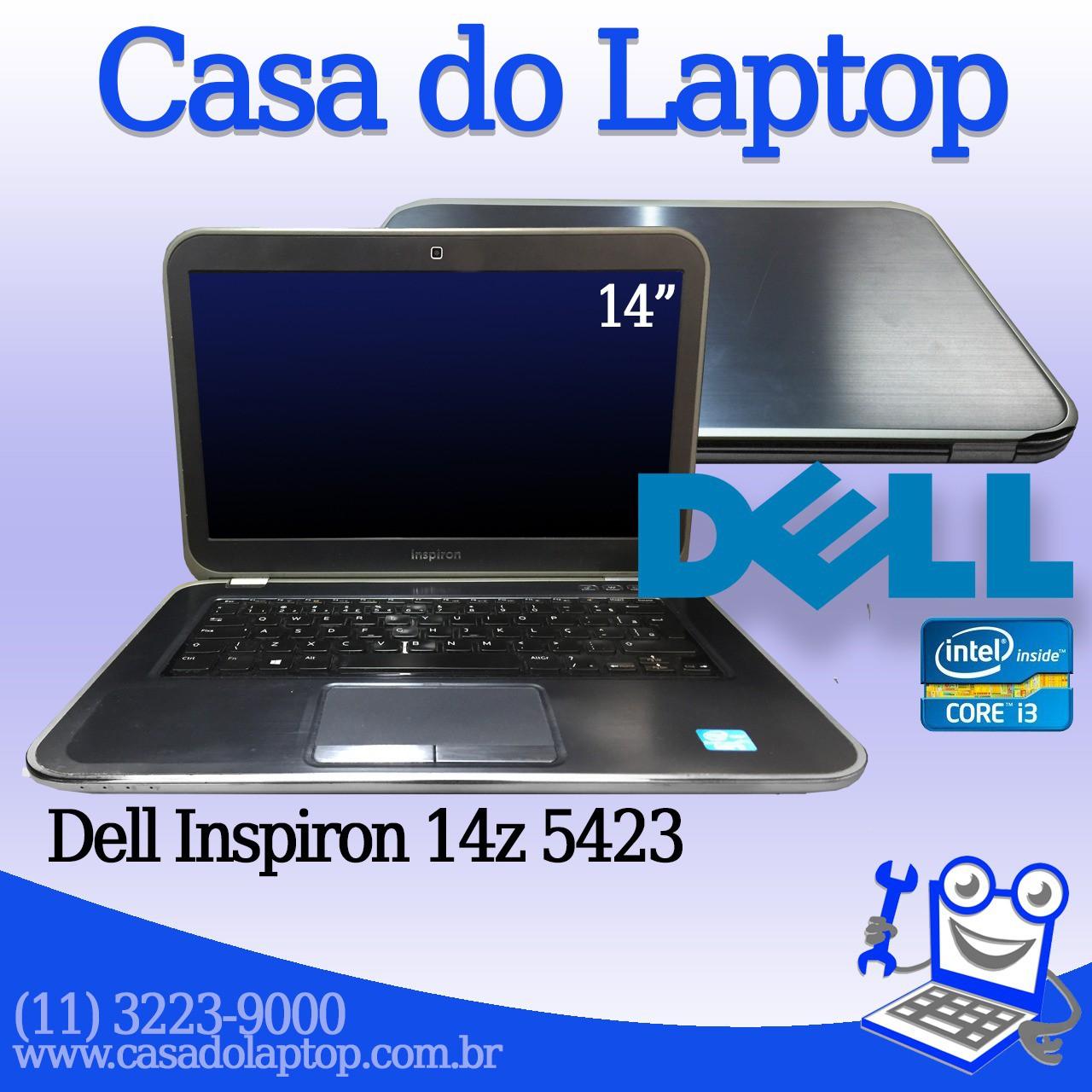 Laptop Dell Inspiron 14z 5423 Intel i5 de 3a. Geração 4 GB memória e 500 GB disco