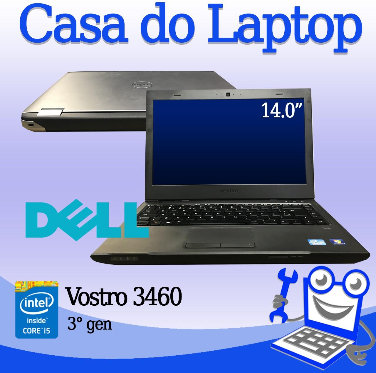 Laptop Dell Vostro 3460 Intel i5 de 3a. Geração 4GB  de memória RAM e 750GB de Disco