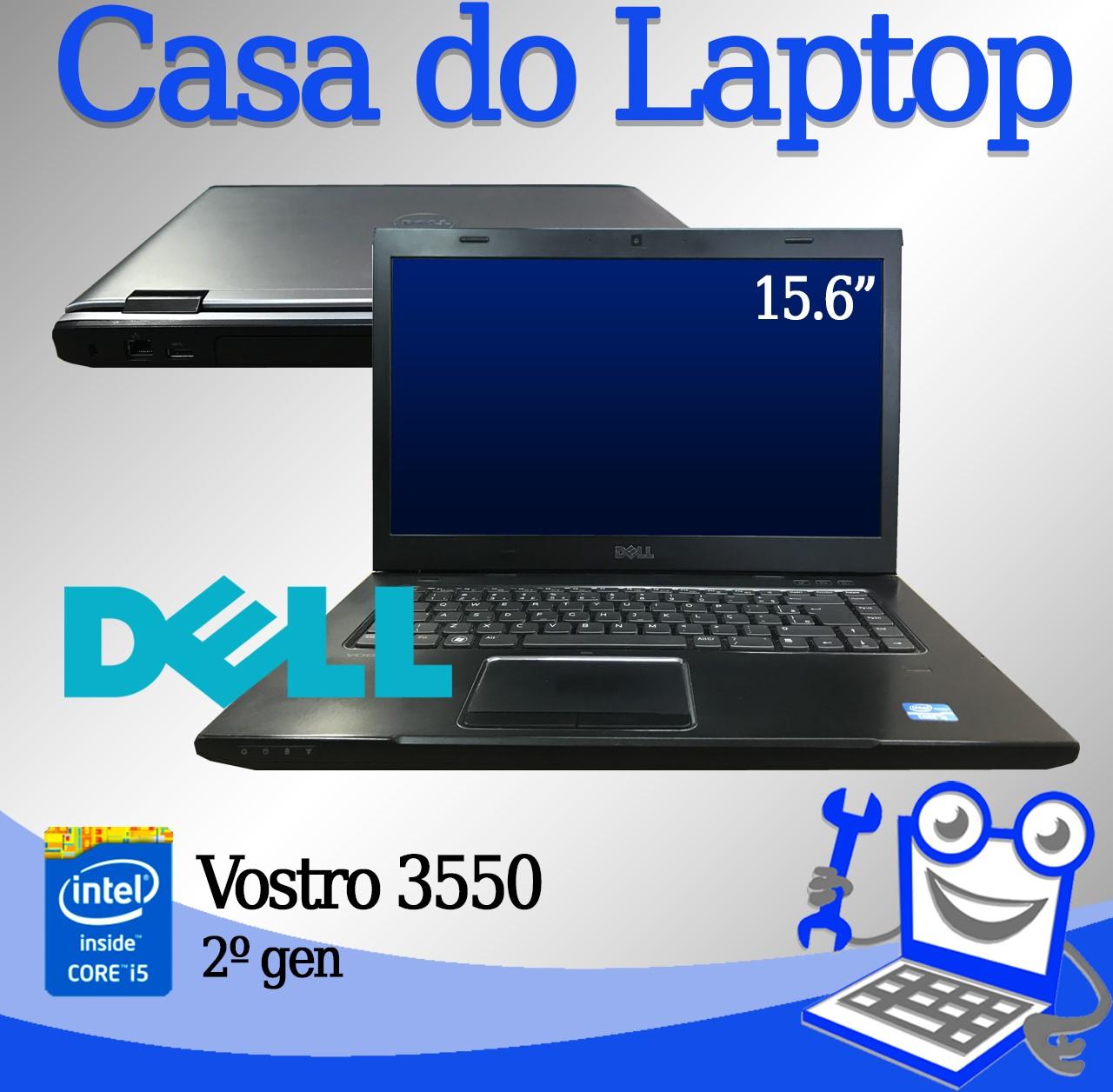 Laptop Dell Vostro 3550 Intel i5 2° Geração 4GB de memória RAM e 320GB Disco
