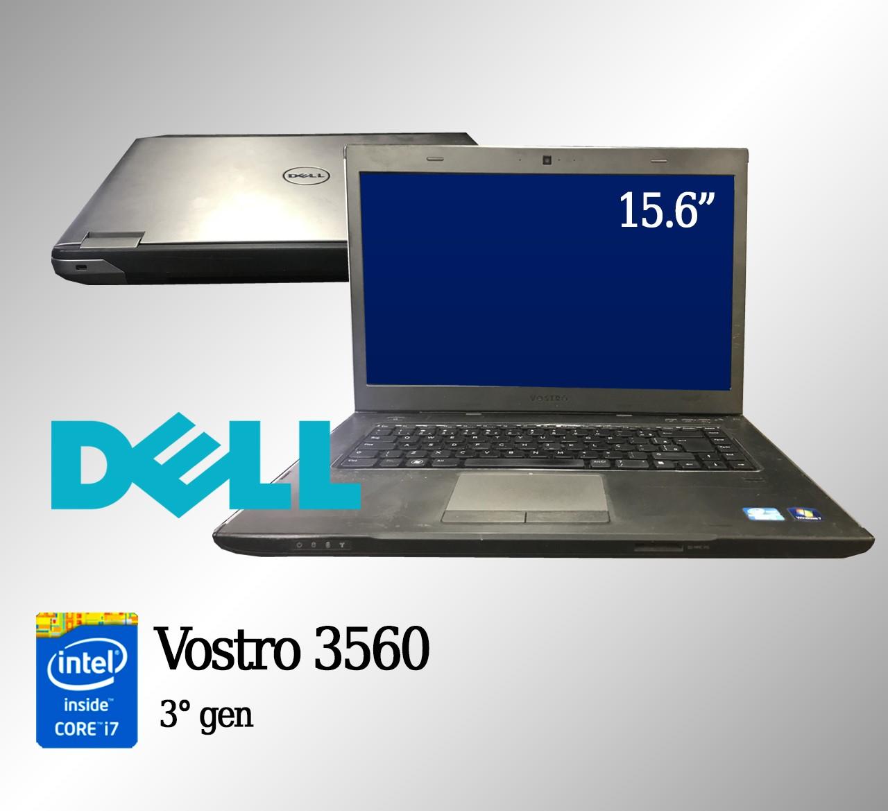 Laptop Dell Vostro 3560 Intel i7 de 3a. Geração 4GB  de memória RAM e 500GB de Disco
