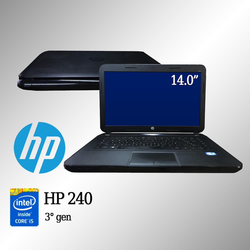 Laptop HP 240 Intel i5 de 3a. Geração 8 GB memória e 500 GB disco rígido