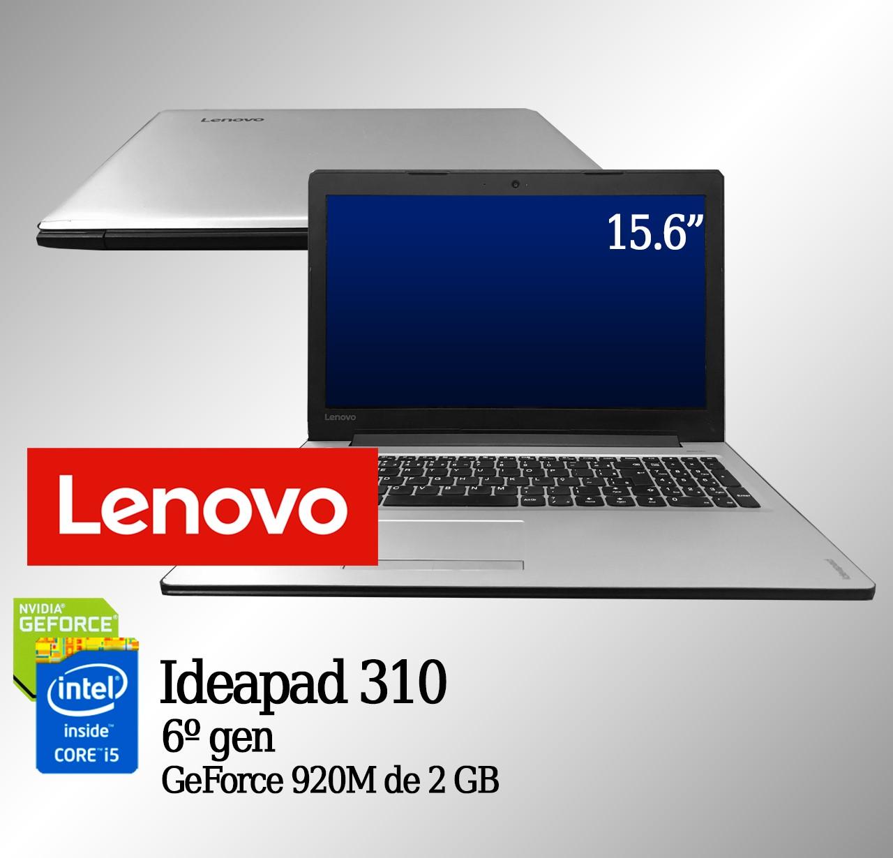 Laptop Lenovo Ideapad 310 Intel i5 6a Geração 8GB de memória RAM, 120GB de SSD e 2GB de vídeo dedicado GeForce 920M
