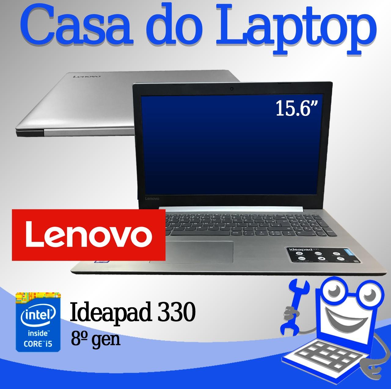 Laptop Lenovo Ideapad 330 Intel i5 8a Geração 8GB de memória RAM e120GB de SSD