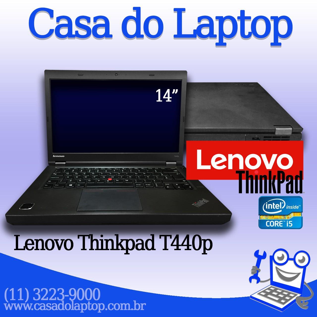 Laptop Lenovo Thinkpad T440p i5 de 4a. geração 8 GB memória e 500 GB disco rígido