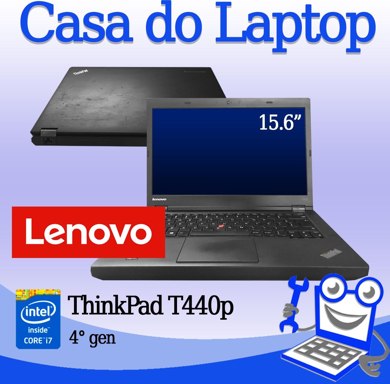 Laptop Lenovo ThinkPad T440P Intel i7 4a. Geração 8GB de memória RAM e 750GB de disco