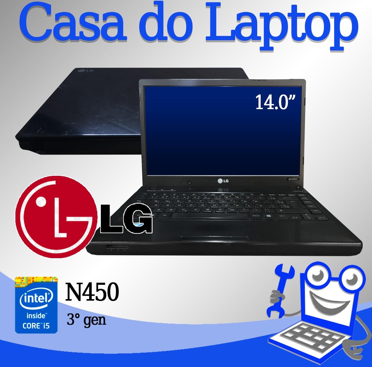 Laptop LG N450 Intel i5 3a. Geração 8GB de memória RAM e 750GB de Memória Disco