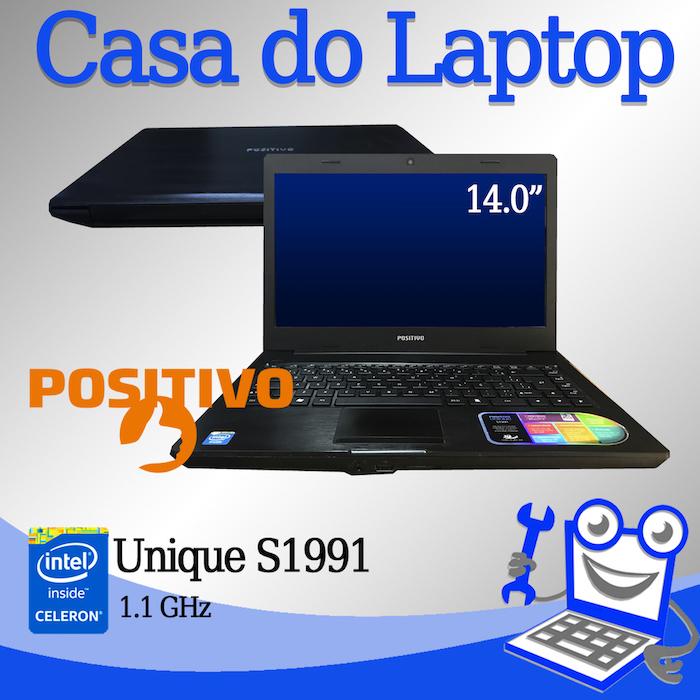 Laptop Positivo Unique S1991Intel Celeron 4 GB memória e 320 GB disco rígido