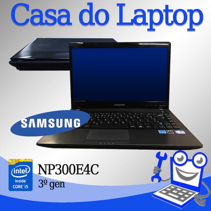 Laptop Samsung NP300E4C Intel i5 de 3a. Geração 4 GB memória e 500 GB disco