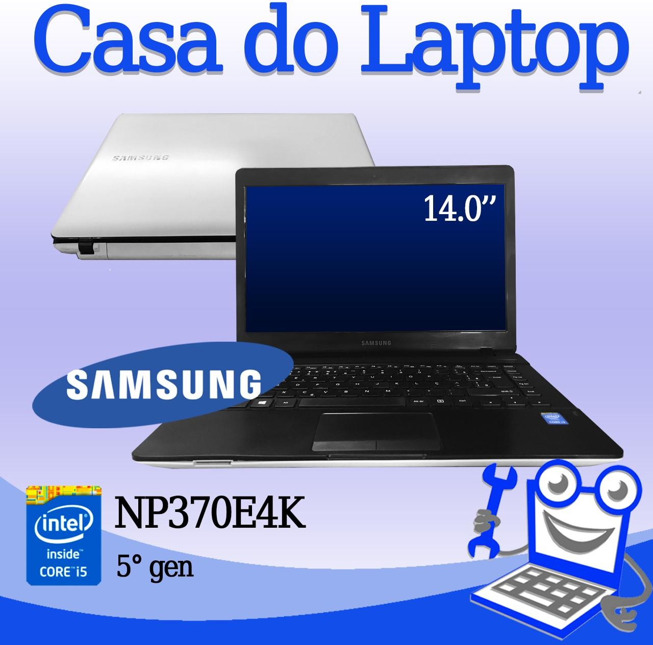 Laptop Samsung NP370E4K Intel i3 5° Geração 4GB de memória e 500GB Disco