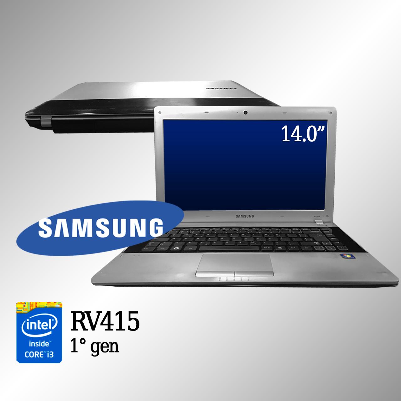 Laptop Samsung RV415 1000 Intel i3 de 1a. Geração 4 GB memória e 500 GB disco rígido