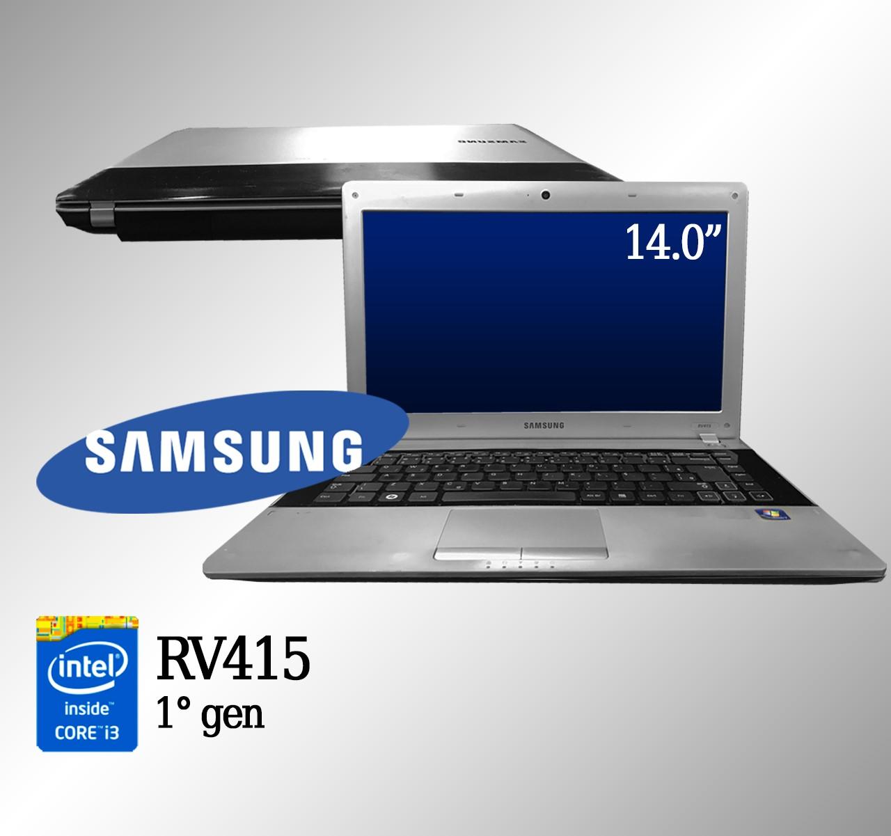 Laptop Samsung  RV415 Intel i3 1° Geração 3GB de memória RAM e 320GB de Disco