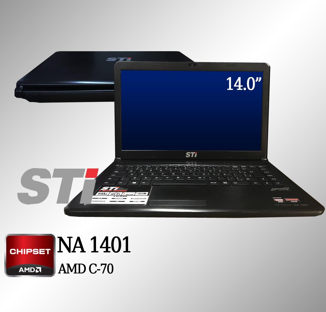 Laptop STI NA 1401 AMD C-70 4GB Memória e 250GB disco