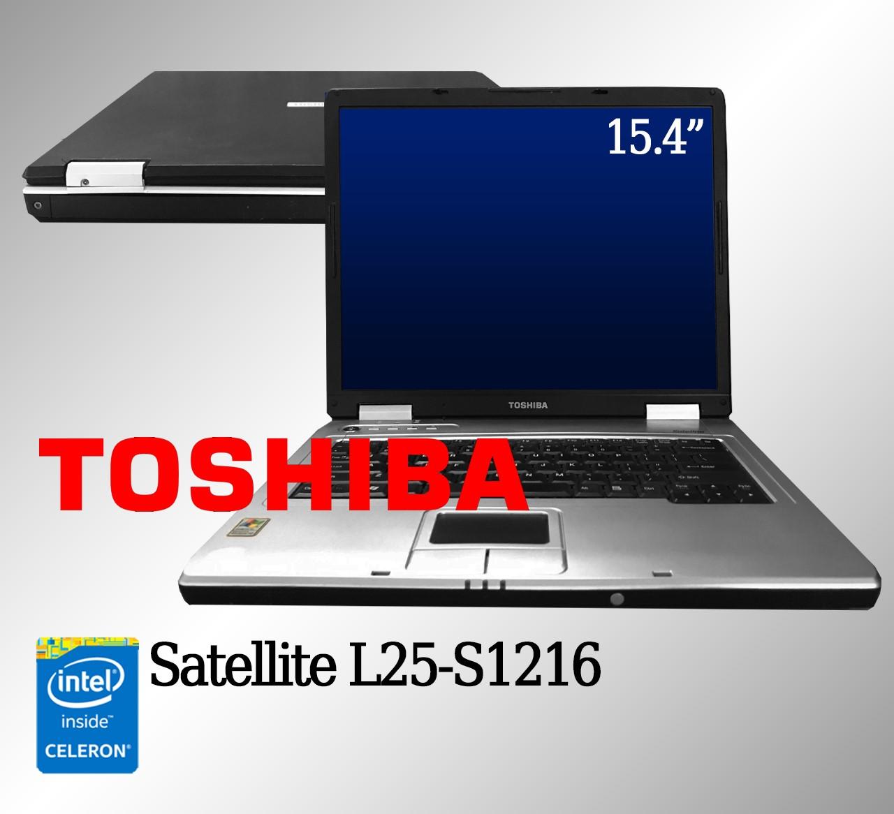 Laptop Toshiba Satellite L25-S1216Intel Celeron 1.5G de Memória RAM e 12 GB Disco