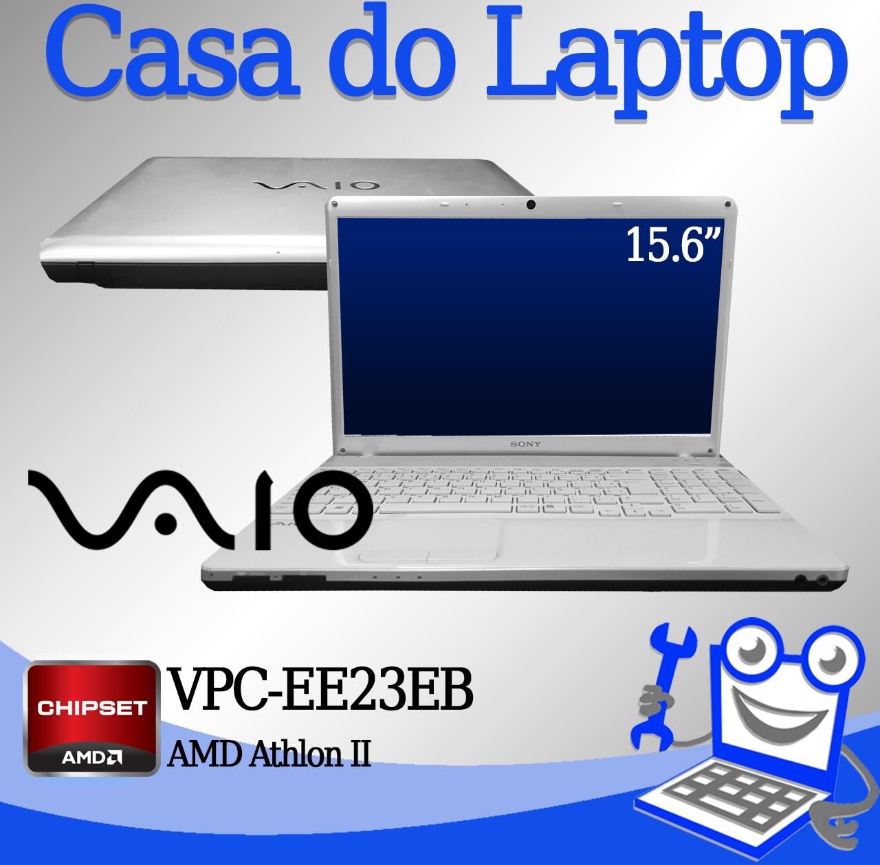 Laptop Vaio VPC-EE23EB AMD Athlon II 4GB de memória RAM e 320GB disco