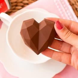 Coração de Chocolate com Cappuccino - 50g