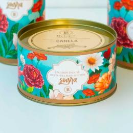 Lata Biscoitos Clássicos  - 200g | Coleção Florescer (Sogra)