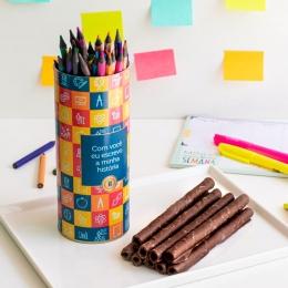 Lata Canudo Charutinhos de Chocolate | Professor