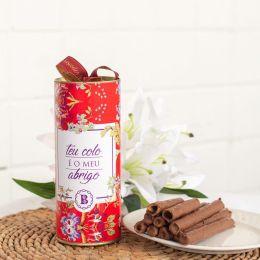 Lata Charutinhos de Chocolate  (Teu colo é o meu abrigo)