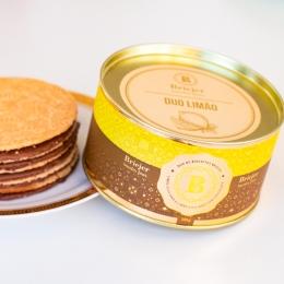 Lata Clássica Biscoitos Tradicionais - Duo Limão e Limão com Chocolate (250g)
