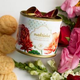 Lata P Biscoitos Suíço - 80g | Coleção Florescer (Madrinha)