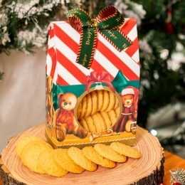 Saq. Biscoitos Amanteigados 200g - Christmas Edition