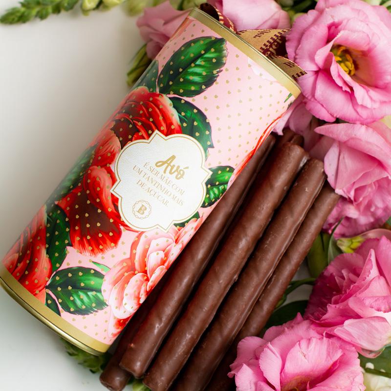Charutinhos de Chocolate - 235g | Coleção Florescer (Avó)