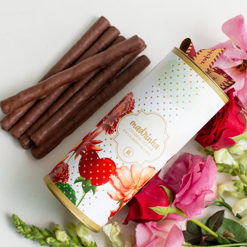 Charutinhos de Chocolate - 235g | Coleção Florescer (Madrinha)