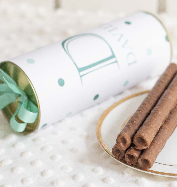 Charutinhos de Chocolate Maternidade (Envie seu rótulo)