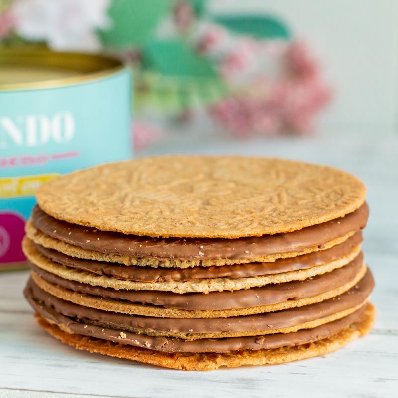 Lata Biscoitos Clássicos - 200g | Dia da Mulher (Azul)