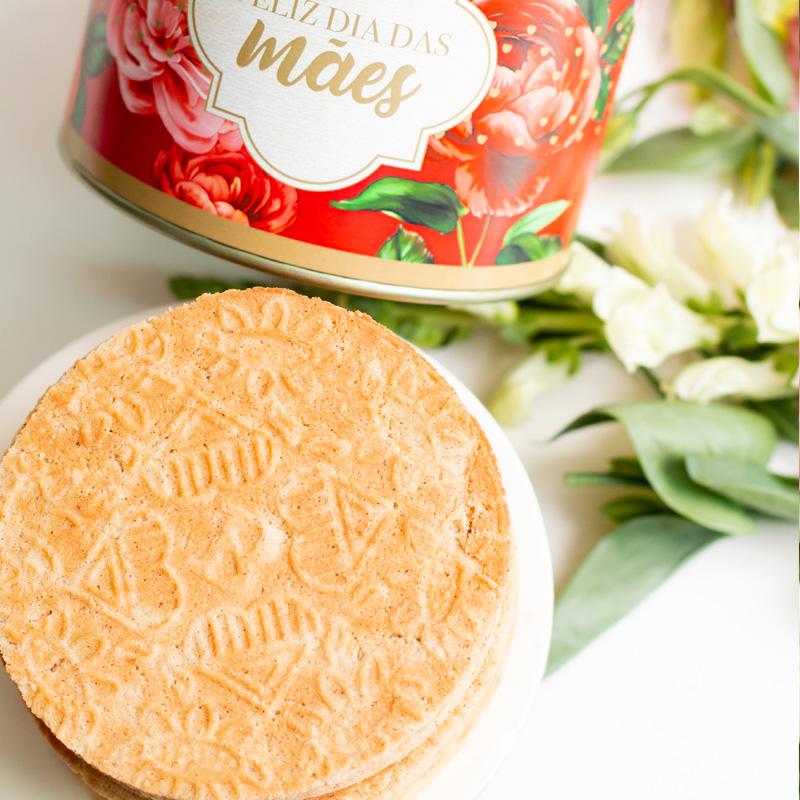 Lata Biscoitos Clássicos  - 400g | Coleção Florescer (Mãe)