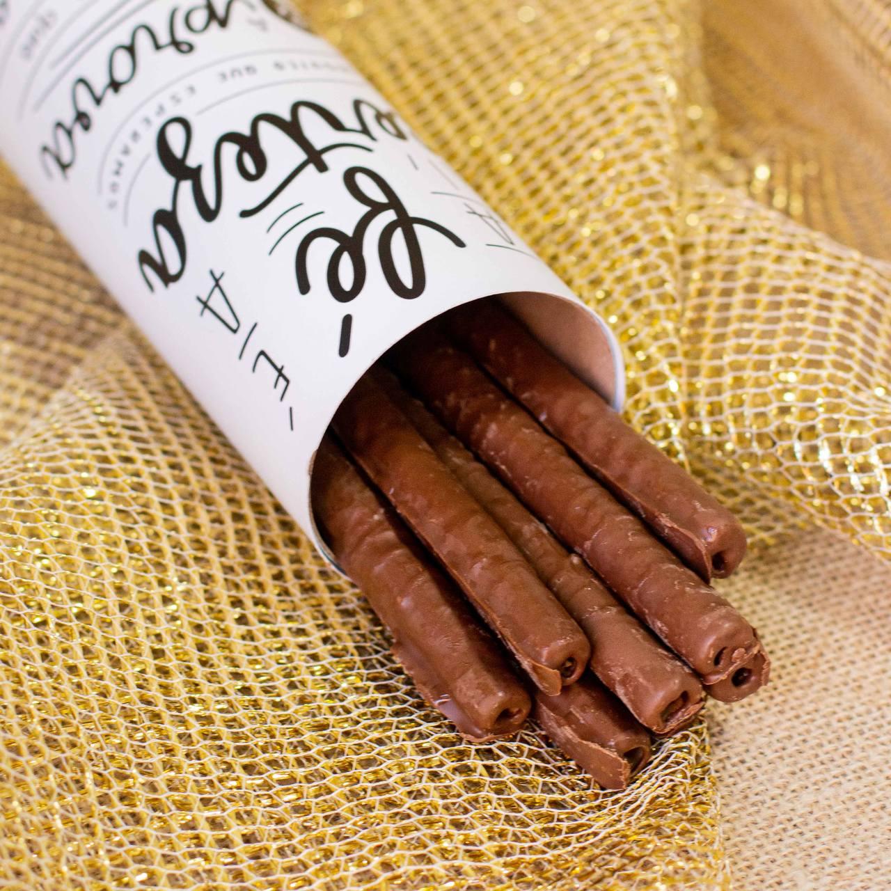 Lata Canudo Charutinho de Chocolate - Fé