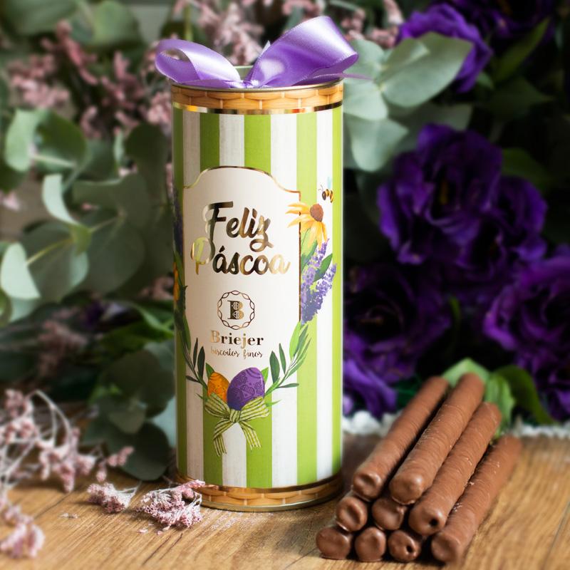 Lata Canudo Charutinho de Chocolate | Páscoa
