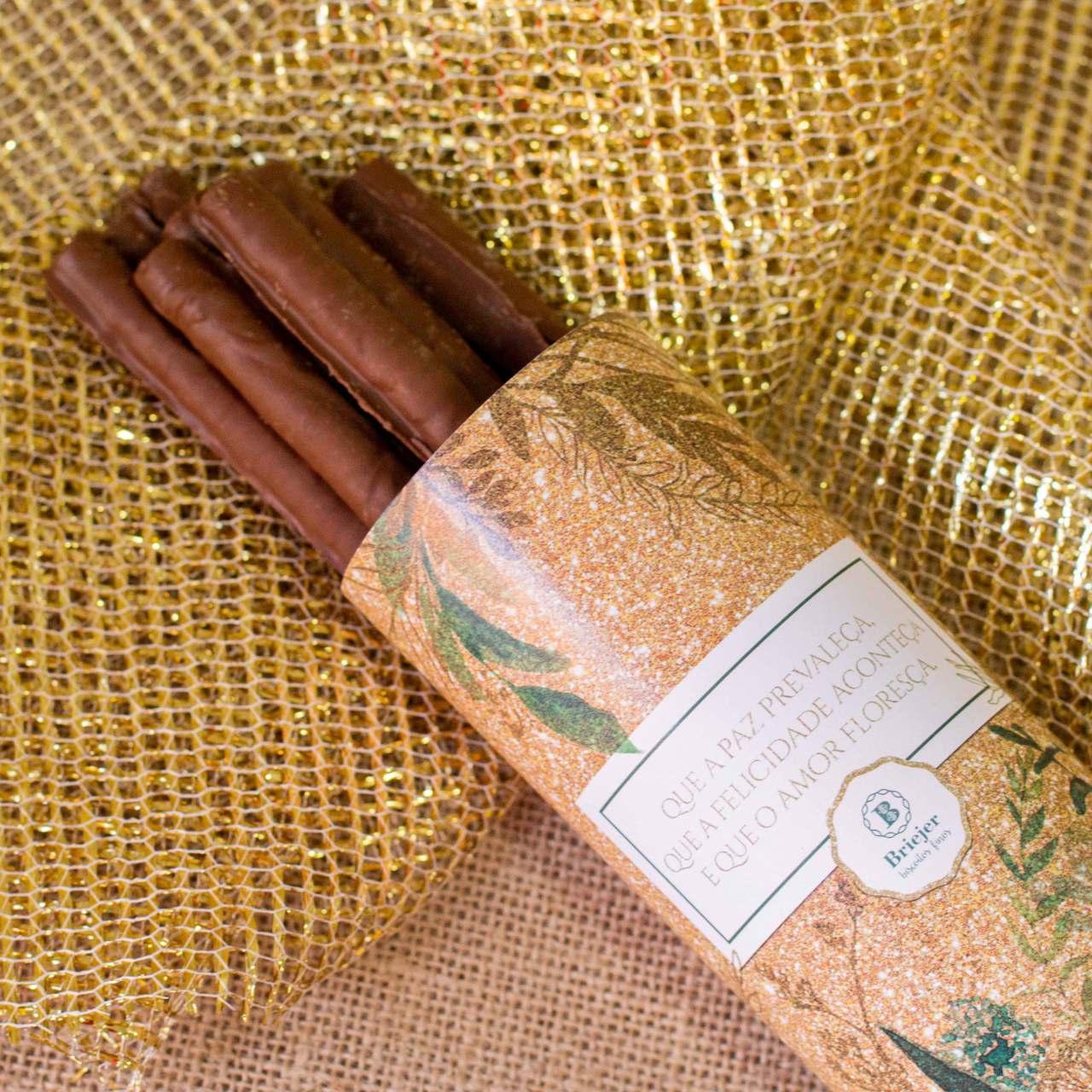 Lata Canudo Charutinho de Chocolate - Semear