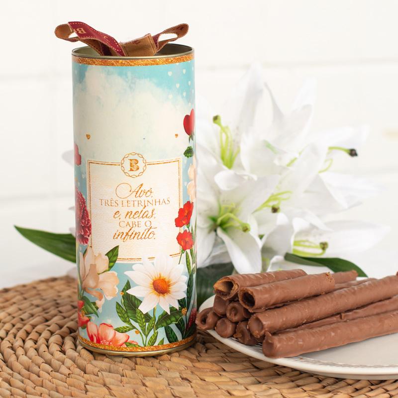 Lata Canudo Charutinhos de Chocolate | Avó