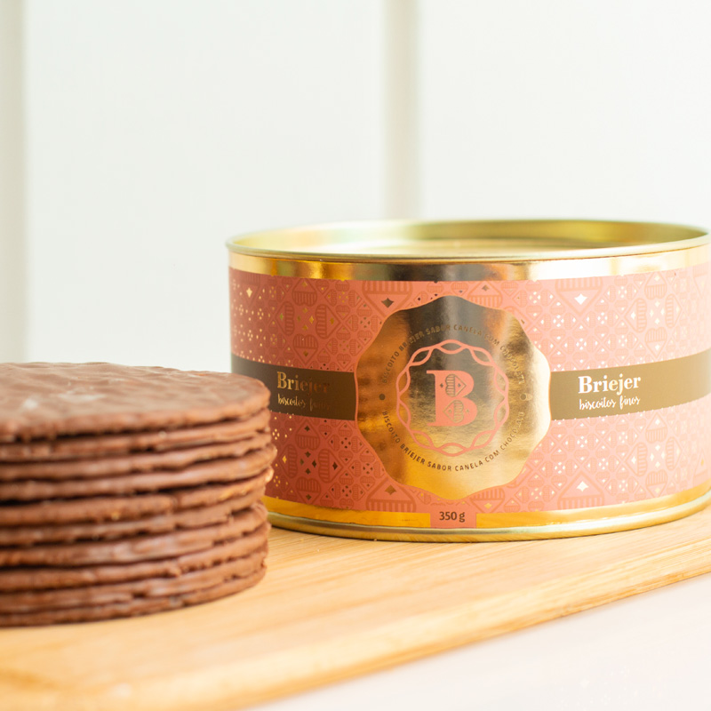 Lata Clássica Biscoitos Tradicionais - Canela com Chocolate (350g)