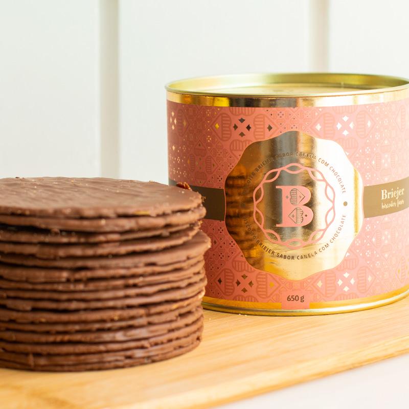 Lata Clássica Biscoitos Tradicionais - Canela com Chocolate (650g)