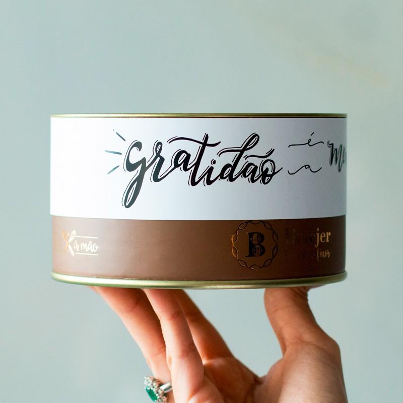 Lata Biscoitos Clássicos (Gratidão cor branca) - 200g