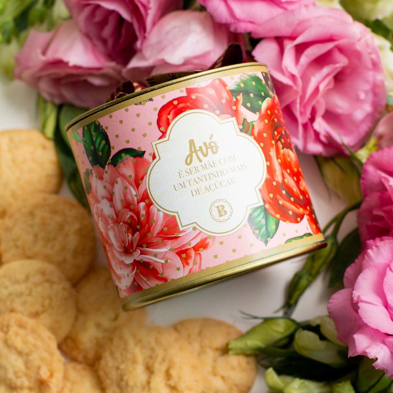 Lata P Biscoitos Suíço - 80g | Coleção Florescer (Avó)