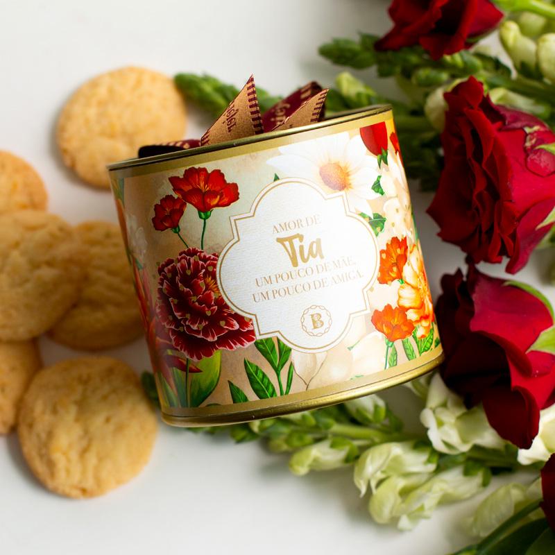 Lata P Biscoitos Suíço - 80g | Coleção Florescer (Tia)