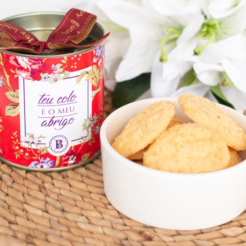 Lata P Biscoitos Amanteigados Suíço (80g) | Teu Colo é o Meu Abrigo