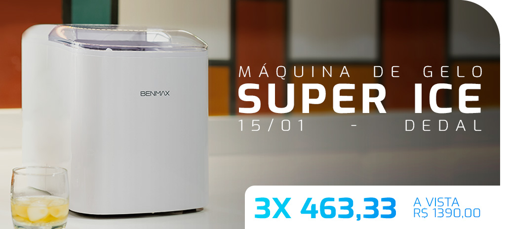 máquina de gelo benmax compressor