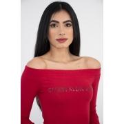 Body Calvin Klein Logo Ombro A Ombro